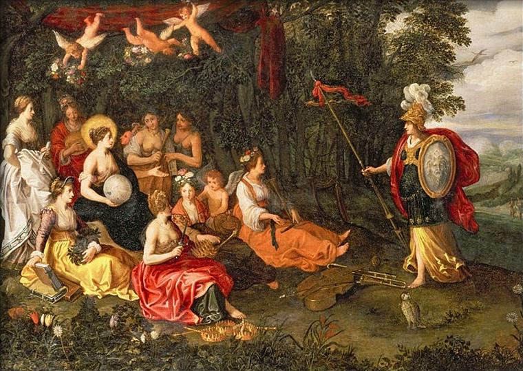 Hans Jordaens : Η Αθηνά και οι Μούσες
