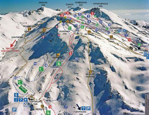Ταβέρνα Ο Νώντας - Αξιοθέατα - Χιονοδρομικό Κέντρο Παρνασσού - Χάρτης